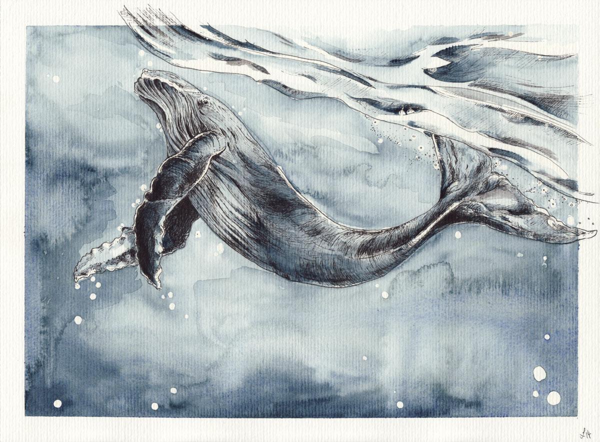 Unter den Wellen.