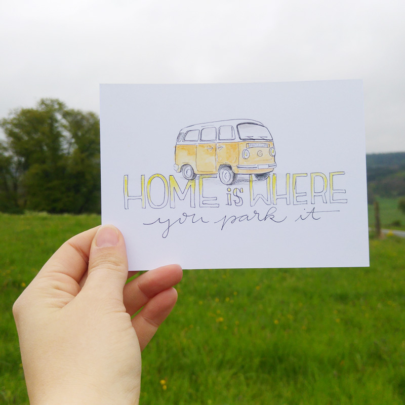 """Home is where you park it"" Illustration für @bulliundclyde"