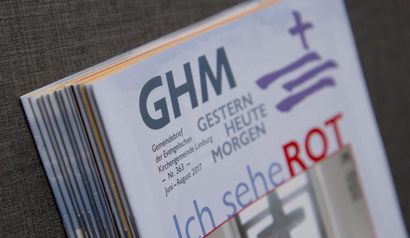 Gestern - Heute - Morgen, der Titel des Gemeindebriefs der Evangelischen Kirchengemeinde Limburg an der Lahn